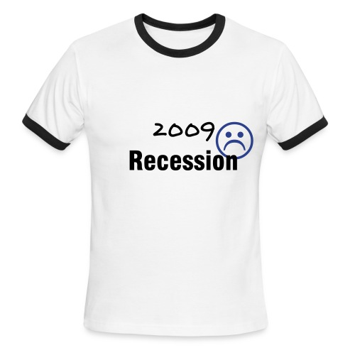 Recession Unhappiness - Men - Men's Ringer T-Shirt