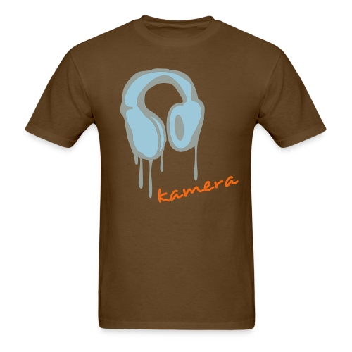 Headphone Brown - Men's T-Shirt