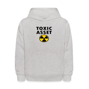 Heather grey Toxic Asset With Hazardous Waste Symbol Sweatshirts