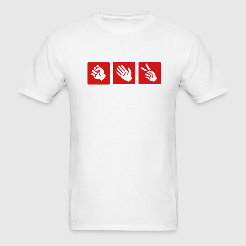 White rock - paper- scissors T-Shirts - Men's T-Shirt
