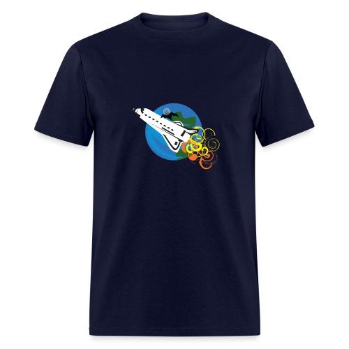 Space Bat Hitching A Ride Mens Tee - Men's T-Shirt
