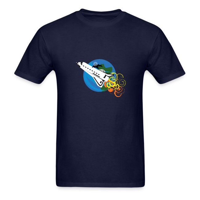 Space Bat Hitching A Ride Mens Tee