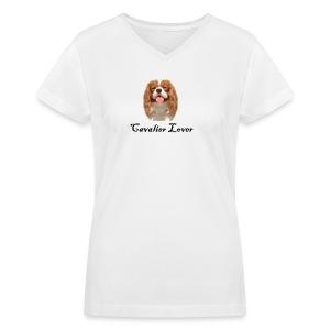 Cavalier Lover - Women's V-Neck T-Shirt