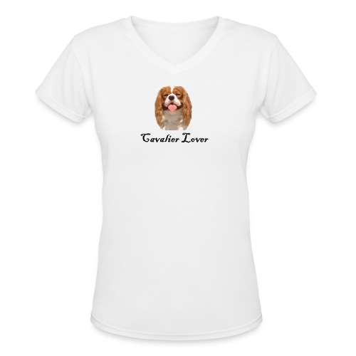 Cavalier Lover - Women's V-Neck T-Shirt