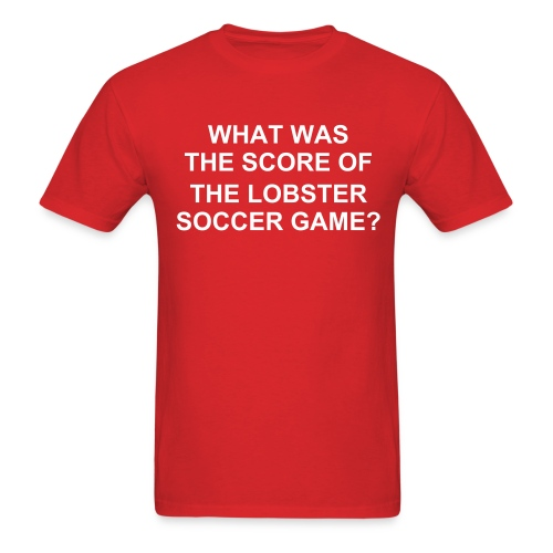 Lobster Soccer - Men's T-Shirt