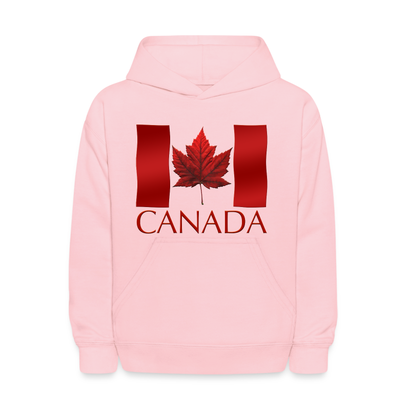 Canada souvenir kid 39 s hoodie canadian flag childrens for Custom polo shirts canada