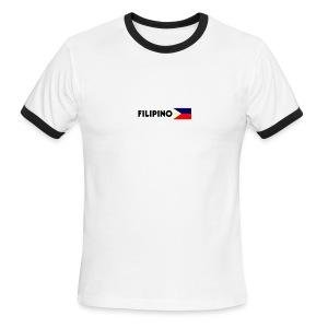 Filipino flag men's ringer tee - Men's Ringer T-Shirt