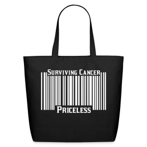 Surviving Cancer Is Priceless Tote - Eco-Friendly Cotton Tote