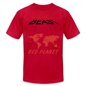 Red Planet - Men's T-Shirt by American Apparel