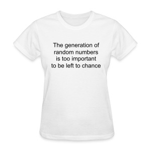 Random Numbers (on Light Choice) - Women's T-Shirt