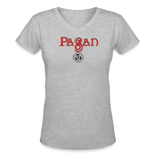 pagan river - Women's V-Neck T-Shirt
