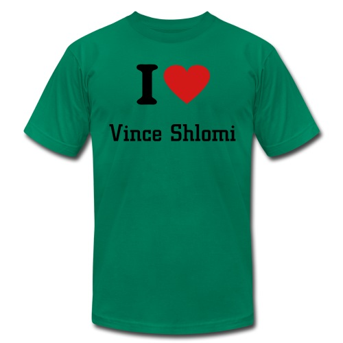 I heart vince shlomi - Men's  Jersey T-Shirt
