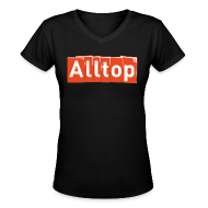 T-Shirts ~ Women's V-Neck T-Shirt ~ Alltop V-neck