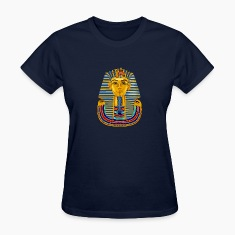 Navy Large King Tut Mask Women's T-shirts