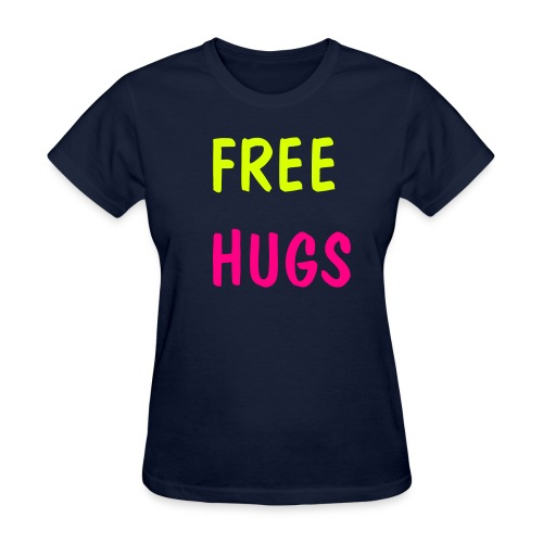 FREE HUGS Neon Colors T-Shirts - Women's T-Shirt