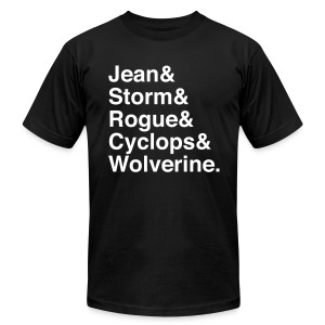 X-Men - Men's T-Shirt by American Apparel