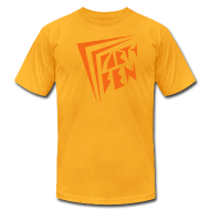 T-Shirts ~ Men's T-Shirt by American Apparel ~ Party Ben Awesome 80s Yellow/Orange