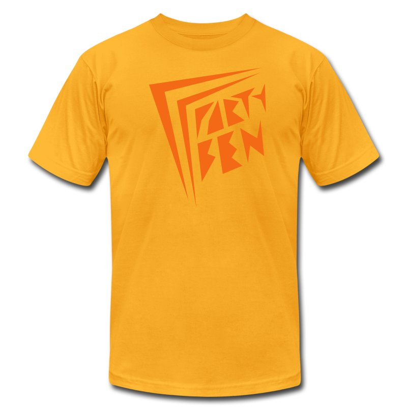 Party Ben Awesome 80s Yellow/Orange - Men's T-Shirt by American Apparel