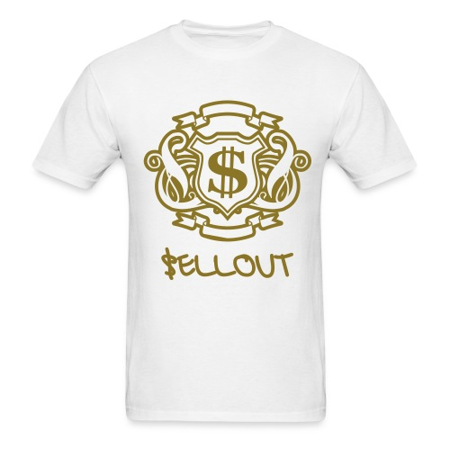 Metallic Gold $ Emblem - Men's T-Shirt