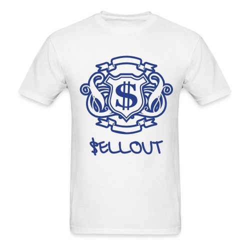Royal Blue $ Emblem - Men's T-Shirt