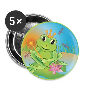 large frog button set 4 - Large Buttons