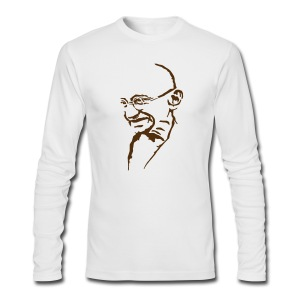 Gandhi - Men's Long Sleeve T-Shirt by Next Level