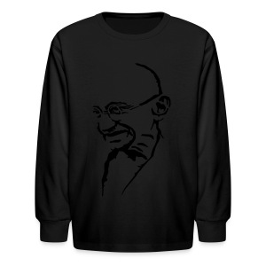 Gandhi - Kids' Long Sleeve T-Shirt