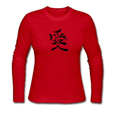 Red Kanji - Love Long sleeve shirts