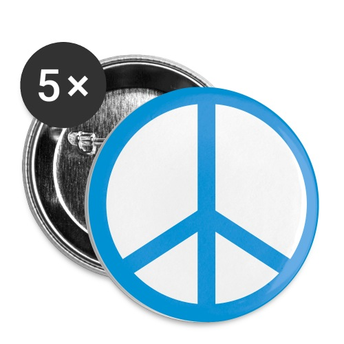 5 pack peace buttons - Small Buttons