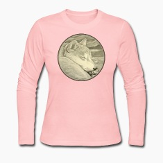 Women's Shiba Inu T-shirt Husky Dog Art Women's Shirts