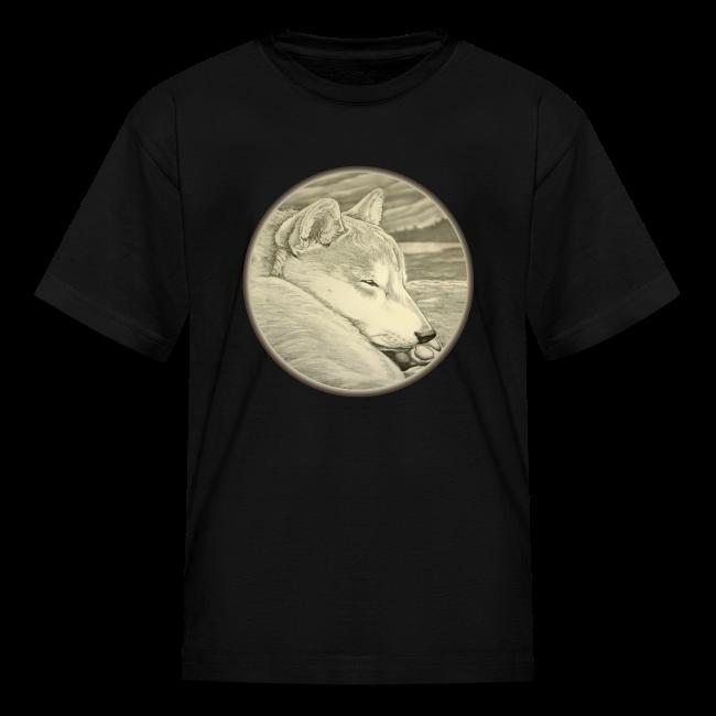 Kid's Shiba Inu T-shirt Husky Dog Art Kid's Shirts