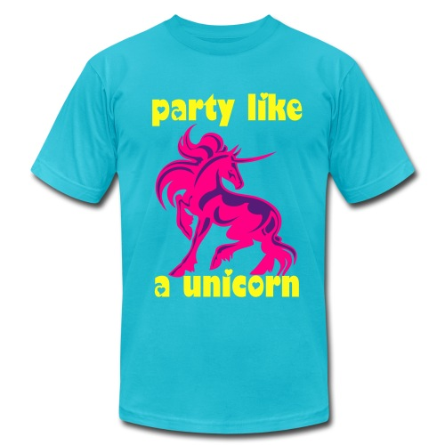 party llike a unicorn - Men's  Jersey T-Shirt