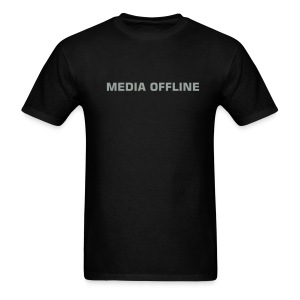 MEDIA OFFLINE light weight black - Men's T-Shirt