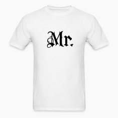 White Mr. tattoo style T-Shirts