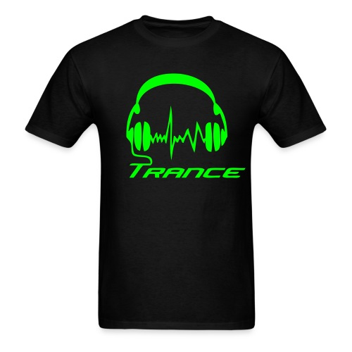 Trance Headphones - Neongreen - Men's T-Shirt