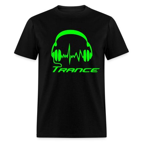 Trance Headphones - Neongreen - Men's T-Shirt