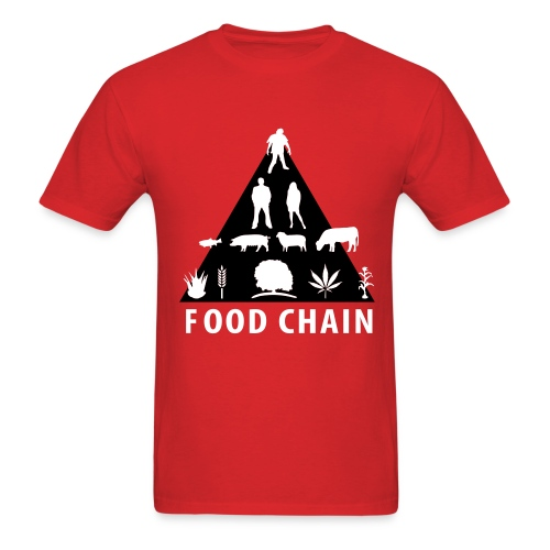 Accurate Food Chain - Men's T-Shirt