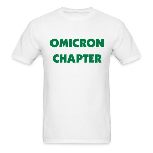 Omicron Chapter Tee Shirt (color changeable) - Men's T-Shirt