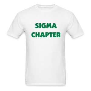 Sigma Chapter Tee Shirt (color changeable) - Men's T-Shirt
