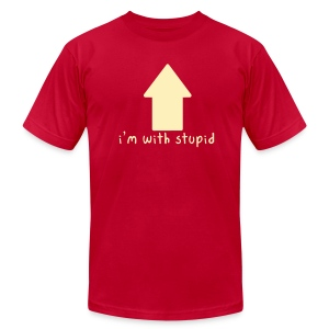 I'm With Stupid - Men's T-Shirt by American Apparel
