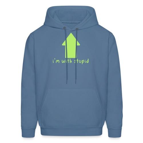 I'm With Stupid - Men's Hoodie