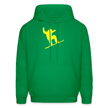 Green snowboarder Hoodies
