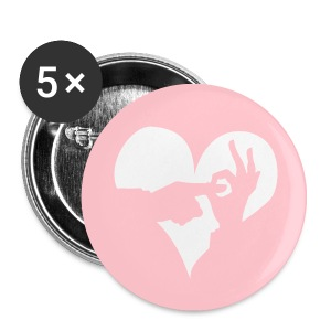 I (Heart) WDC Pink - Small Buttons