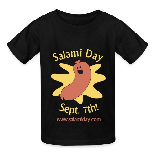 Salami Day: Happy Salami - Kids' T-Shirt