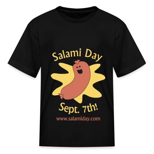 Salami Day: Happy Salami - Kids' T-Shirt