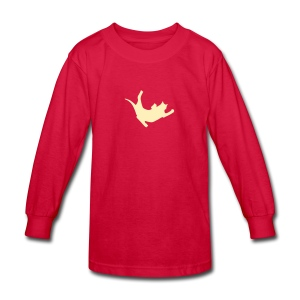Fly Cat - Kids' Long Sleeve T-Shirt