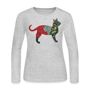 Gray CALICO CAT Long sleeve shirts - Women's Long Sleeve Jersey T-Shirt