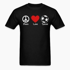 Peace, Love, Soccer Men's Tee