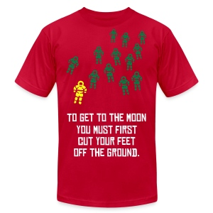 To Get To The Moon (Astronaut Invasion) - Men's Fine Jersey T-Shirt