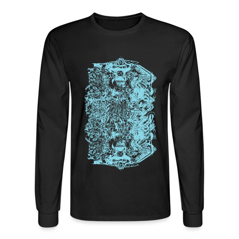 Cool baby blue graffiti design t shirt spreadshirt for Cool long sleeve t shirts for men